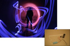 Dana Maltby has hacked cold cathode tubes — the neon light's cheaper, safer younger brother — to be battery operated for light-painting use. Building one just takes an 8XAA battery holder, a switch, and some simple tools. Swipe, slash, or wave it in the air to create colorful bands of light.