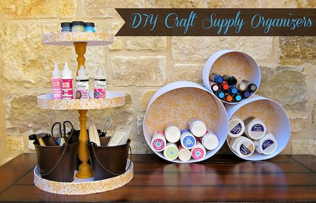 Get Organized: Papier Mâché Craft Supply Storage Solutions