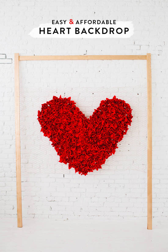 DIY Heart Backdrop