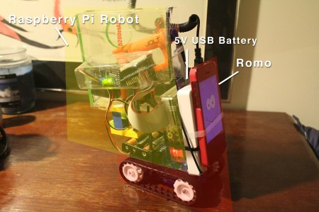 Meet Raspberry Jolt, my mini nerf-dart-shooting robot with WIFI control and remote video recording. It's powered by the Raspberry Pi, a servo with a linear-conversion kit, and a nerf gun housed on top of a first-gen Romo by Romotive. Romotive was so tickled by this project that they sent me their next-gen Romo for free. Project Link