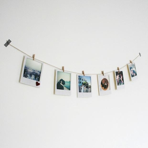 How-To: Felt Polaroid Photo Banner