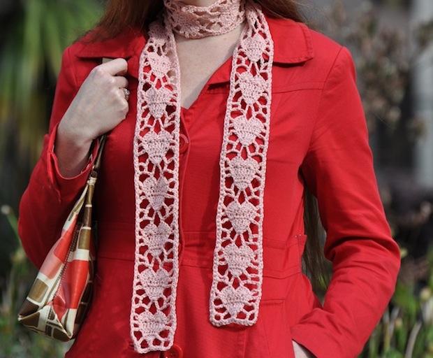 Flashback: Crochet Heart Scarf