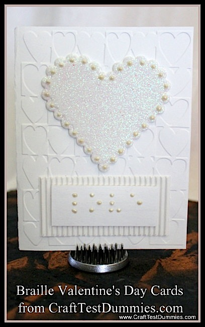 How-To: Braille Valentine's Day Cards