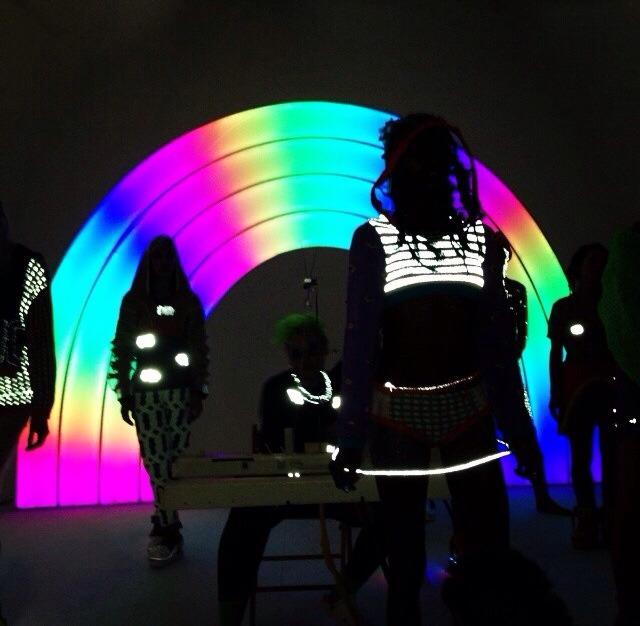 LED Rainbows and Knitting Machines at NY Fashion Week 2014