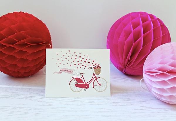 Printable: Bicycle Valentine Card