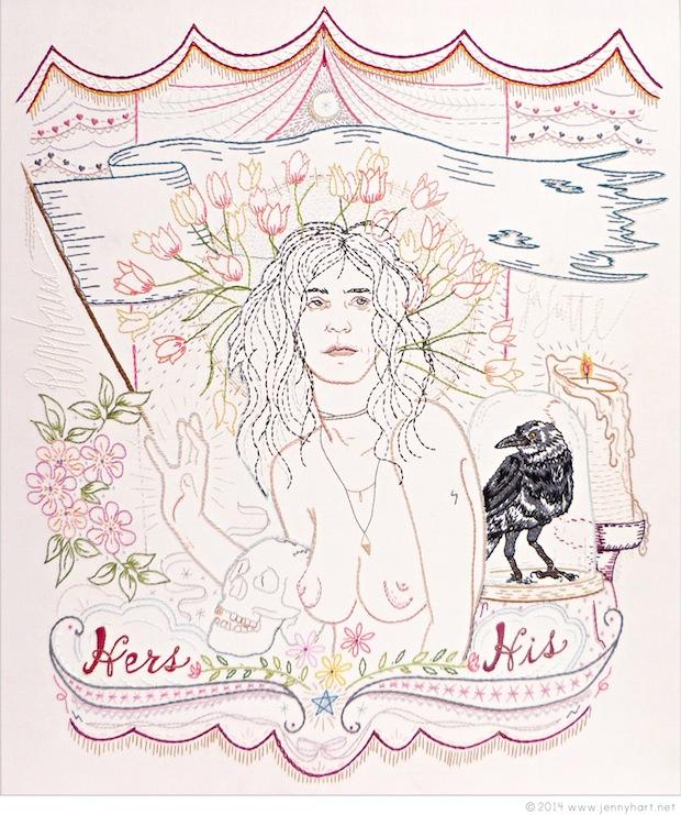 Patti Smith Embroidery