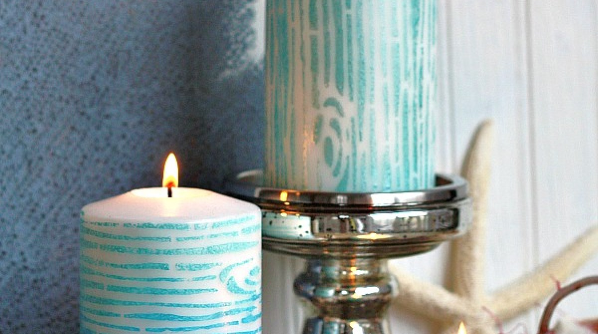 How-To: Faux Bois Candles