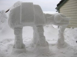Miguel Valenzuela's snow AT-AT.
