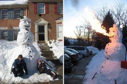 Fire-breathing snowman.