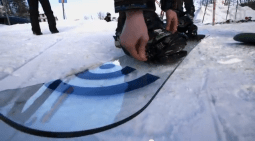 Signal Snowboards' Italian glass snowboard.
