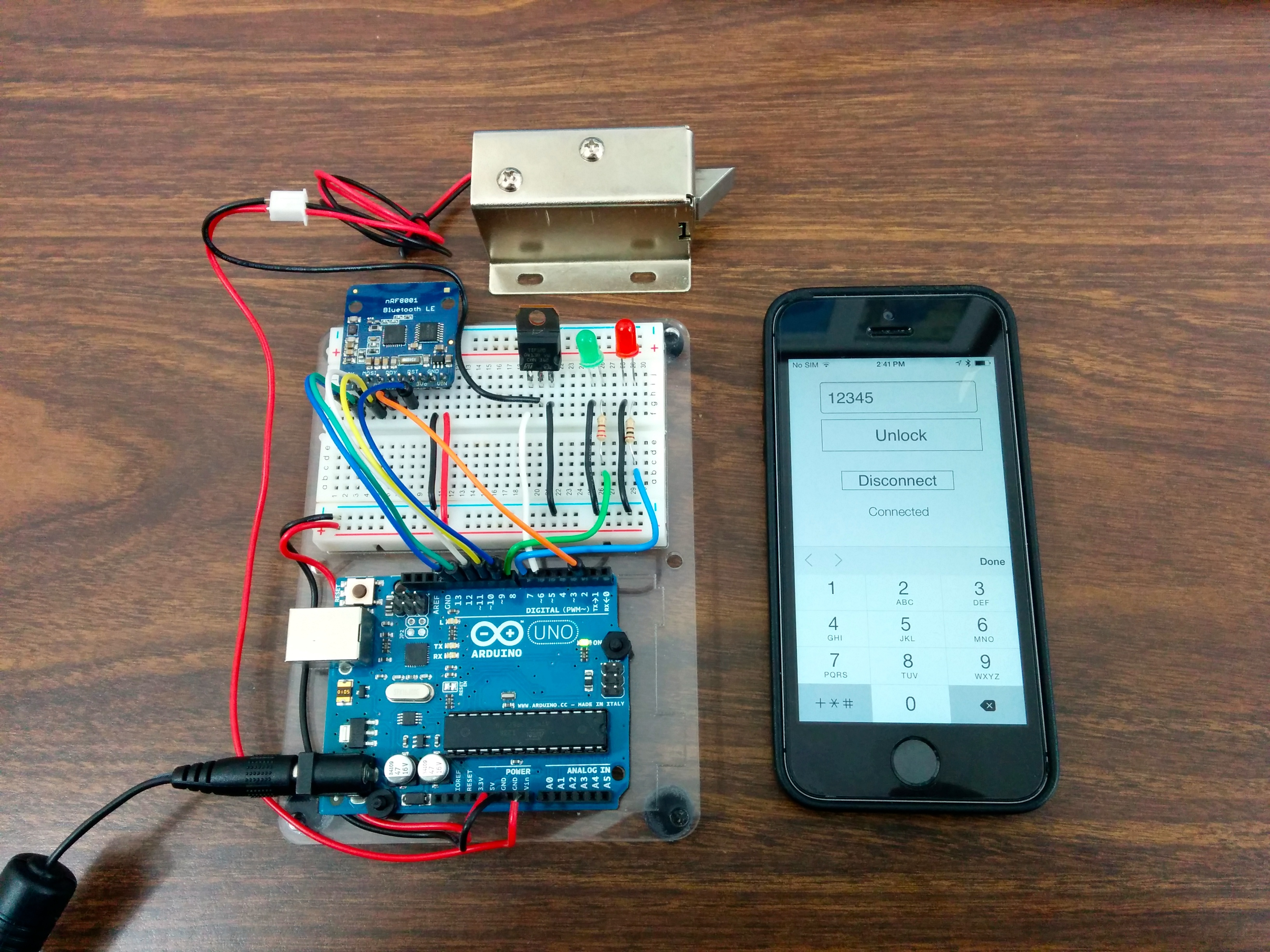 Controlling A Lock With An Arduino And Bluetooth Le Make Digital Door Password Based Electronic Code Using 8051