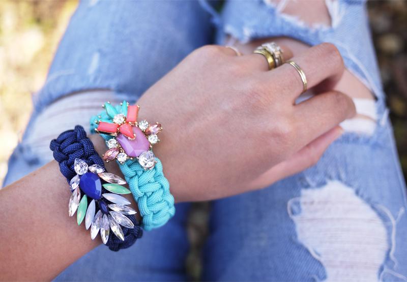 DIY Jeweled Paracord Bracelet