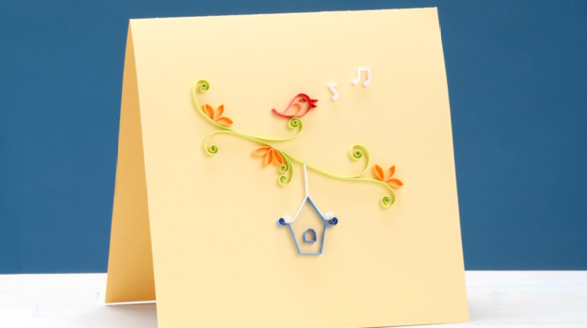 Pretty Quilled Cards Project Excerpt Songbird Greeting Make