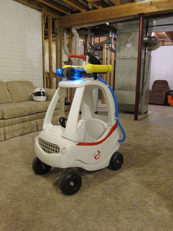 Turning A Cozy Coupe Toy Car Into a Ghostbusters Ecto-1 Vehicle
