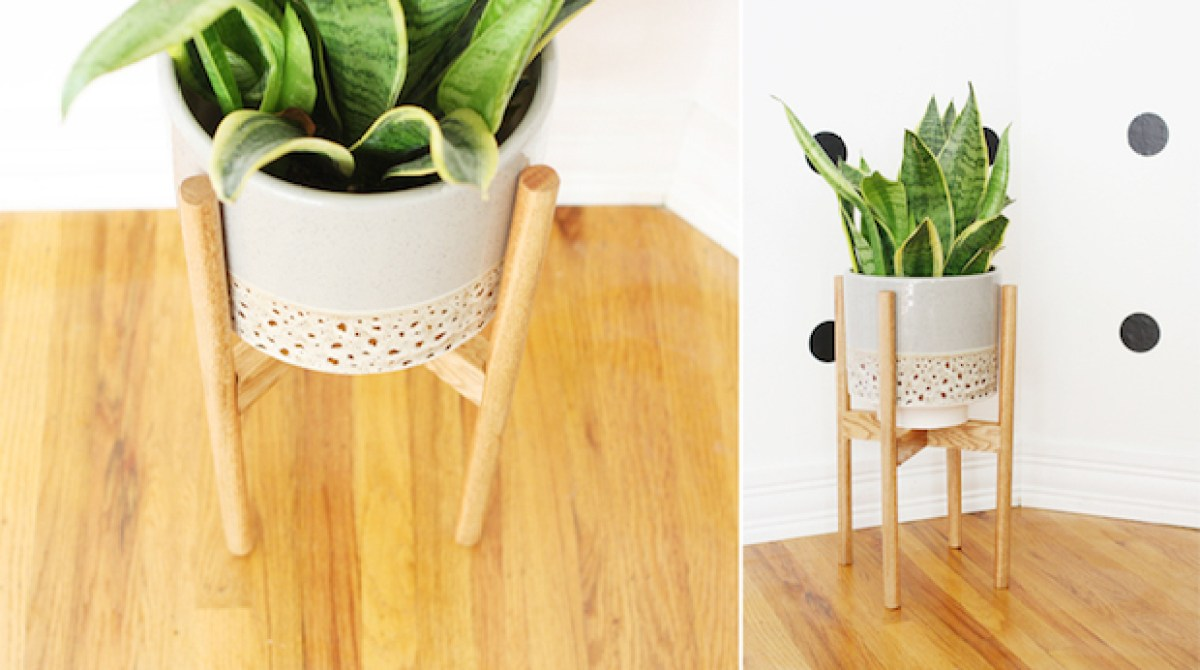 Build It Wooden Plant Stand Make