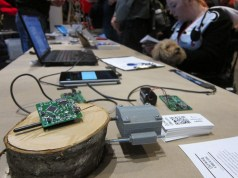 Research Forester Peter Gould of Olympia Circuits showed his SODA Dendrologger—an Arduino powered, inexpensive, high-quality device to measure diameter growth of trees. olympiacircuits.com