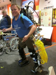 Monty Reed's robotic exoskeleton-as-physical-therapy project was born after Monty suffered a parachuting accident. http://bit.ly/1gsroRC