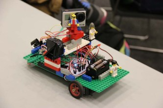 This LEGO and Spark powered creation is able to drive a GoPro camera to its target and aim its camera turret on command.