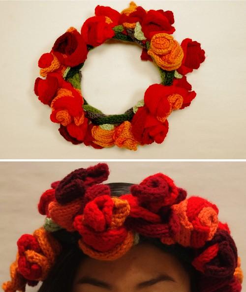Knit Flower Crown