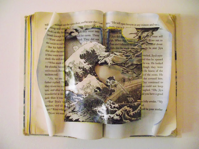 Altered Book Sculptural Wall Hangings