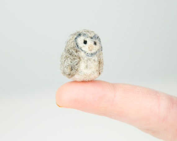 Miniature Needle Felted Owls