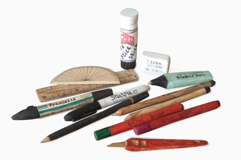 Hand Carved Pencil Case Contents