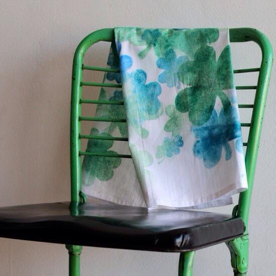 How-To: Falling Shamrock Tea Towel