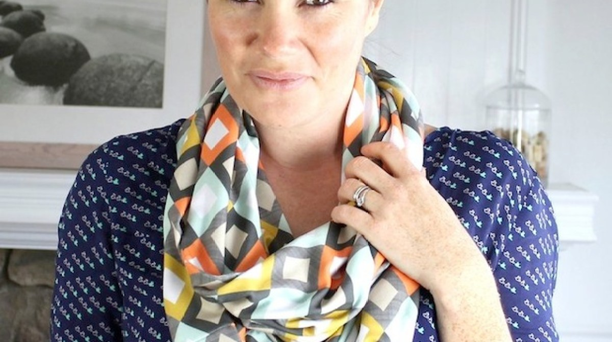 How-To: Modern Jersey Infinity Scarf