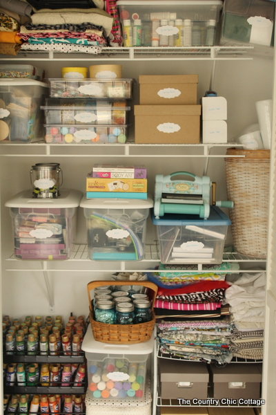Craft Inspiration: Organized Craft Closet
