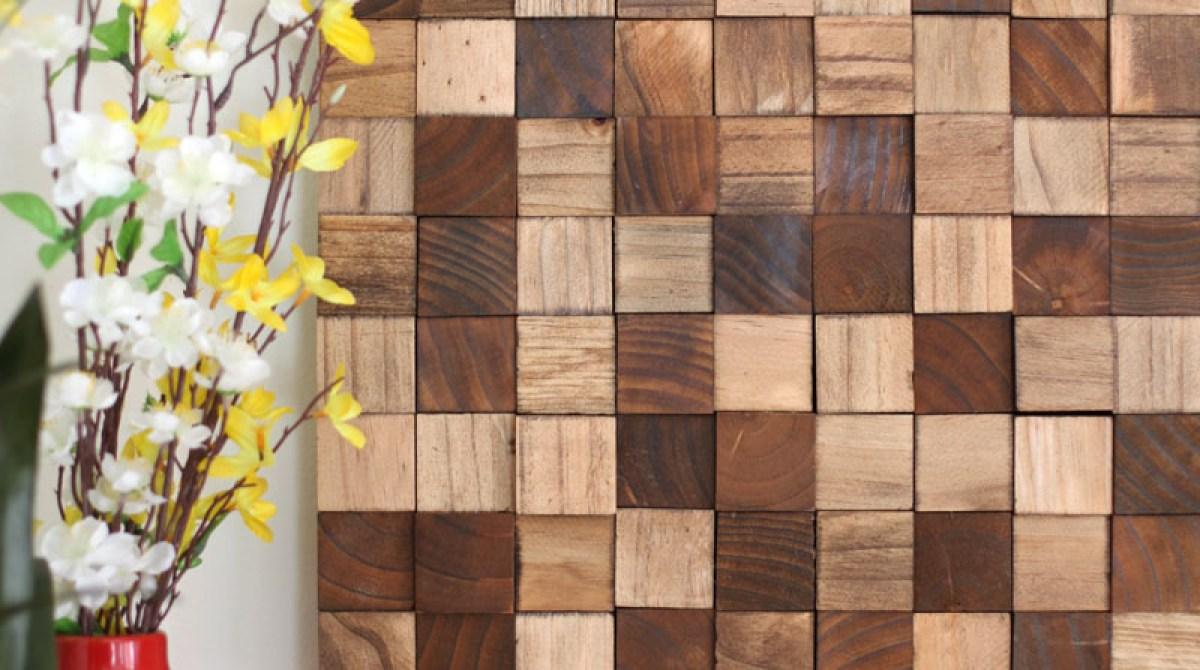 Wooden Mosaic Wall Art Make
