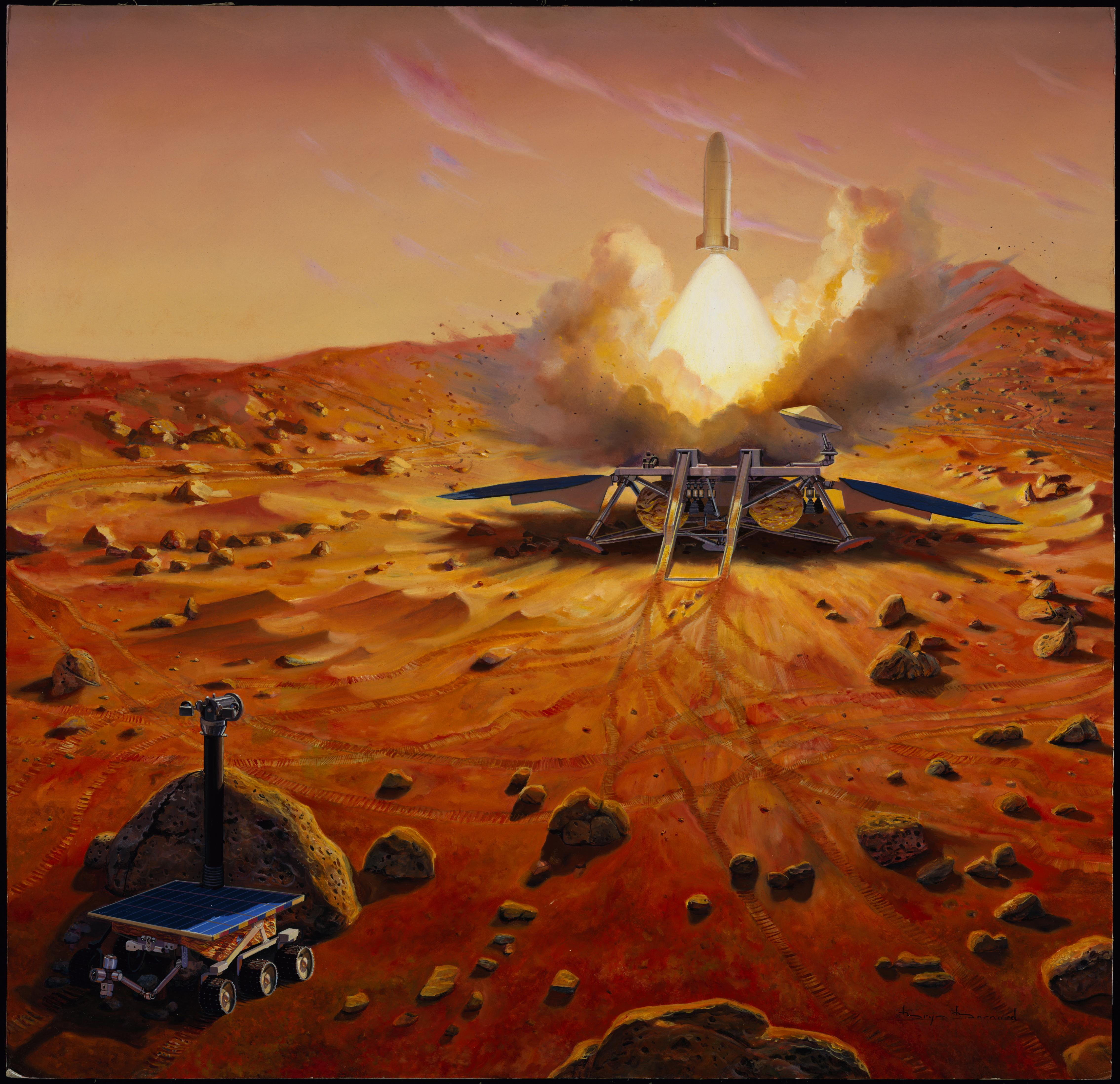 To Mars and Back: Make the Robotic Rockets to Hunt for Life