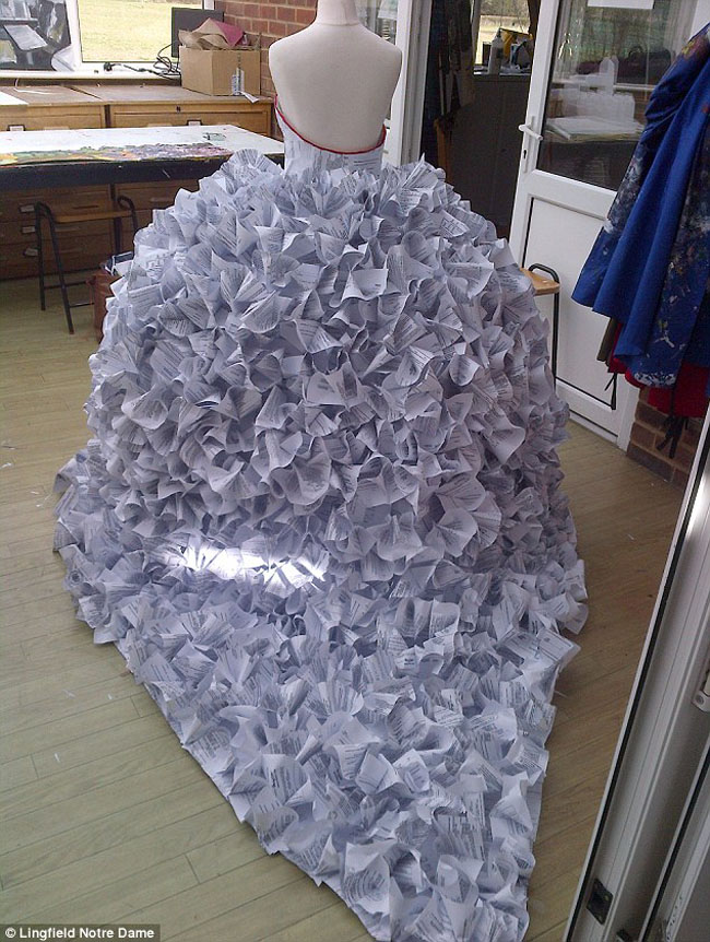 Wedding Dress Made From Divorce Papers
