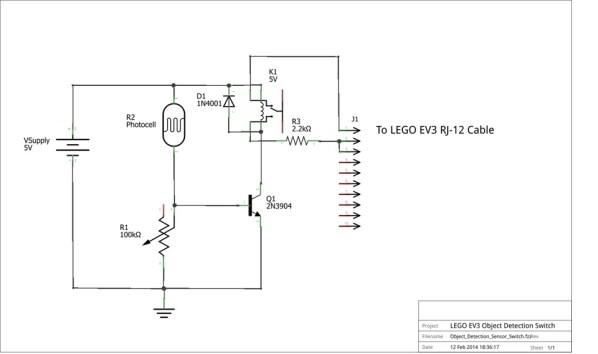 DIY Object Sensor Circuit Schematic diagram | Make: DIY