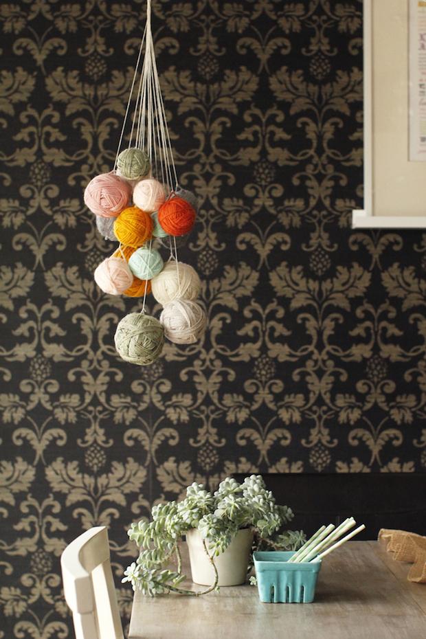 How-To: DIY Yarn Chandelier