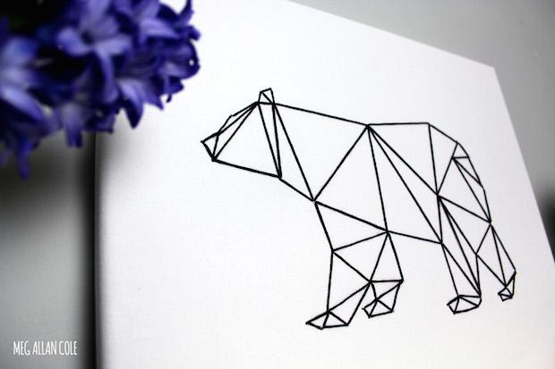 How To Geometric Bear String Art Make