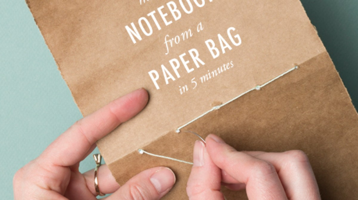 how to make a notebook from a paper bag make