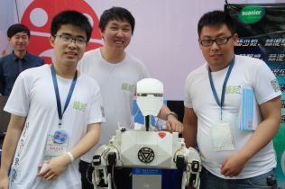 This group of students produced Frank, a telepresence robot.