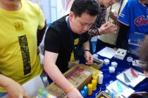 Many booths had products such as gadgets to sell.