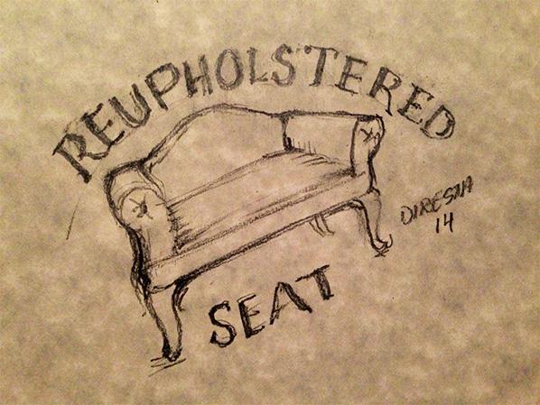 DiResta: Reupholstered Love Seat