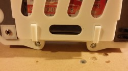 117 - Detail of battery cover tabs