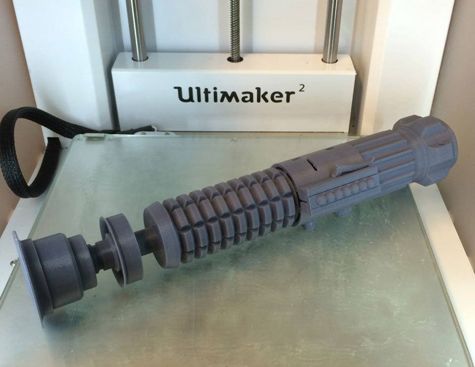 3D Printing Obi-Wan's Lightsaber | Make:
