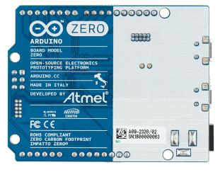 Rear view of the new Arduino Zero