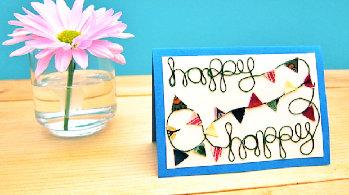 Flashback: Colorful Bunting Card for Any Occasion