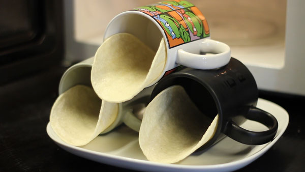 How-To: Crunchy Taco Shells In The Microwave