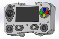 The CAD model of the entire assembly.