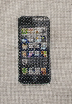 Jill Lanza's Embroidered Images of Electronics