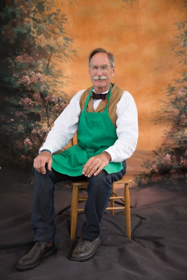 Tintype master maker Bruce Morton sits for his portrait