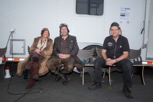 John Sarriugarte's Serpent Twins crew relaxes for a moment