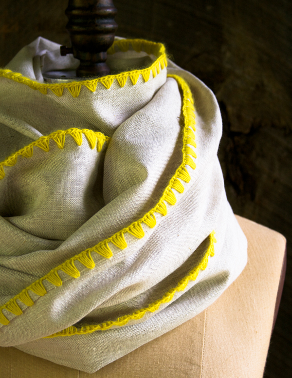 How-To: Edged Linen Wrap