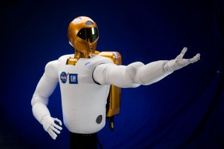 NASA's loveable robo-torso was the first humanoid (upper body) in space. Created by the Dextrous Robotics Laboratory at Johnson Space Center, Robonaut has been 15 years in the making and was finally sent up to the International Space Station in 2011. As of this writing, R2 waits patiently for his climbing legs to be delivered by the SpaceX resupply ship. This teleoperated robotic astronaut will work alongside crewmembers doing maintenance tasks and assisting on space walks.